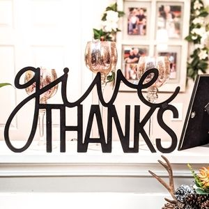 """Give Thanks"" Wall Decor for Home Sweet Home"